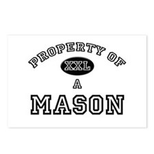 Property of a Mason Postcards (Package of 8)