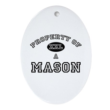 Property of a Mason Oval Ornament