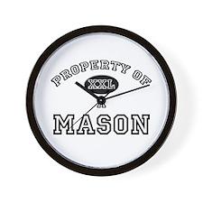Property of a Mason Wall Clock