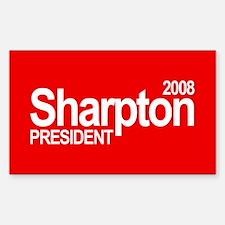 AL SHARPTON PRESIDENT 2008 Rectangle Decal