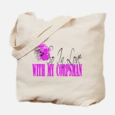 so in love with my corpsman Tote Bag