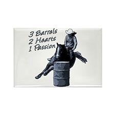 3 Barrels 2 hearts 1 passion. Rectangle Magnet