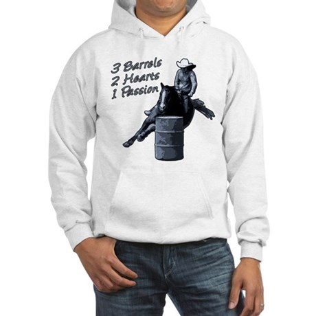 3 Barrels 2 hearts 1 passion. Hooded Sweatshirt