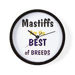 Mastiff Dog Best Of Breeds Wall Clock