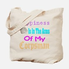 happiness is in the arms of m Tote Bag