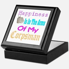 happiness is in the arms of m Keepsake Box