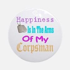 happiness is in the arms of m Ornament (Round)