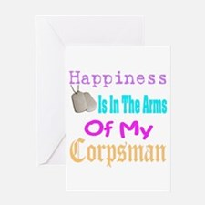 happiness is in the arms of m Greeting Card