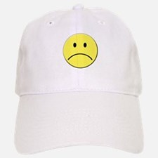 Yellow Sad Face Emoji Baseball Baseball Cap