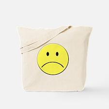 Yellow Sad Face Emoji Tote Bag
