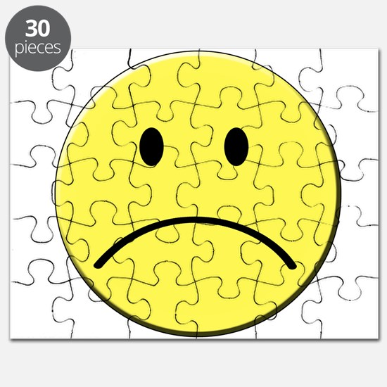 Yellow Sad Face Emoji Puzzle