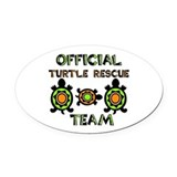I brake for turtles Oval Car Magnets