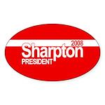 AL SHARPTON PRESIDENT 2008 Oval Sticker