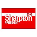 AL SHARPTON PRESIDENT 2008 Rectangle Sticker