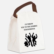 Cute Zombie love Canvas Lunch Bag