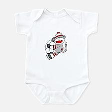 Sock Monkey Soccer Infant Bodysuit