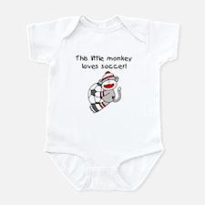 Little Monkey Loves Soccer Infant Bodysuit