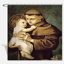 Saint Anthony Padua Shower Curtain