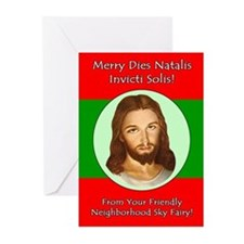 Cool Funny jesus christmas Greeting Cards (Pk of 20)