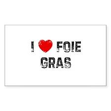 I * Foie Gras Rectangle Decal