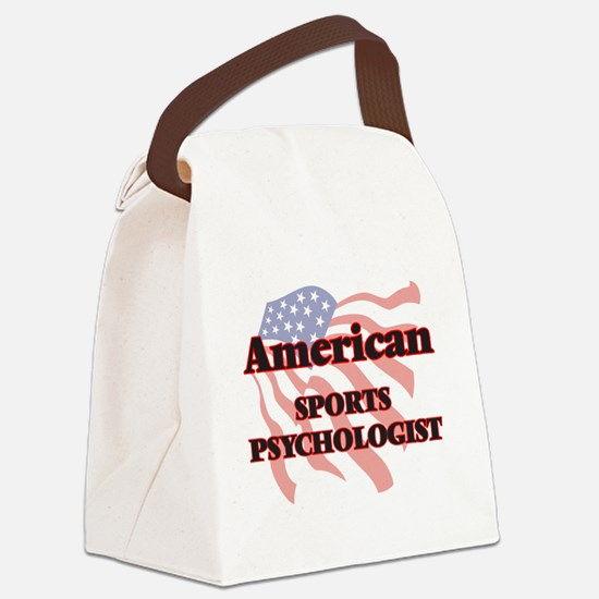 American Sports Psychologist Canvas Lunch Bag