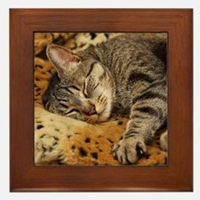 Sleeping Bud Framed Tile