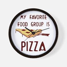 My Favorite Food.png Wall Clock