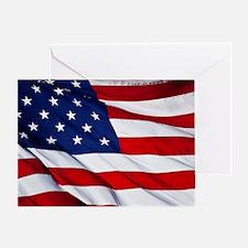 Cute American flag Greeting Card
