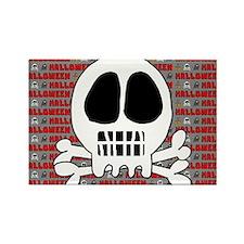 Skull or Skeleton Rectangle Magnet