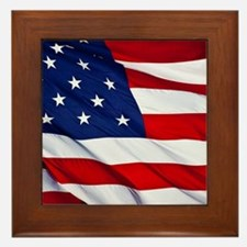 United States Flag in All Her Glory Framed Tile