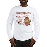 Baking Long Sleeve White T-Shirts