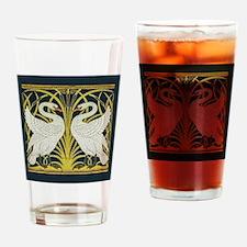 Swan, Rush and Iris by Walter Crane Drinking Glass