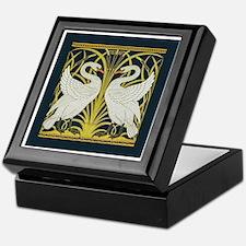 Swan, Rush and Iris by Walter Crane Keepsake Box