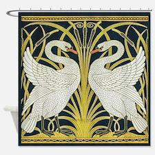 Swan, Rush and Iris by Walter Crane Shower Curtain