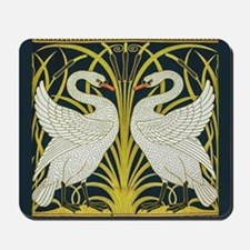 Swan, Rush and Iris by Walter Crane Mousepad