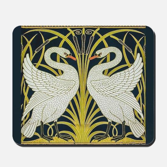 Swan, Rush and Iris by Walter Crane Mousepad