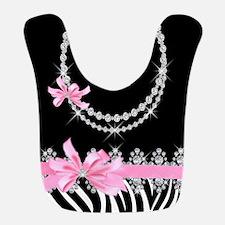Zebra (pink) Bib