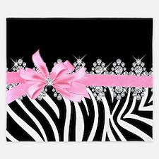 Zebra (pink) King Duvet