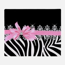 Zebra (pink) Throw Blanket