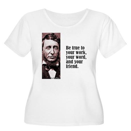 """Thoreau """"Be True"""" Women's Plus Size Scoop Neck T-S"""