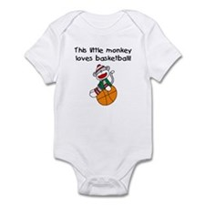 Little Monkey Loves Basketball Infant Bodysuit