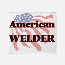American Welder Throw Blanket