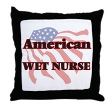 American Wet Nurse Throw Pillow