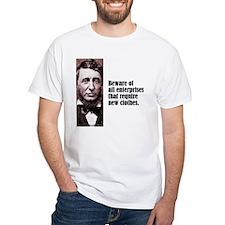 """Thoreau """"Beware"""" Shirt"""