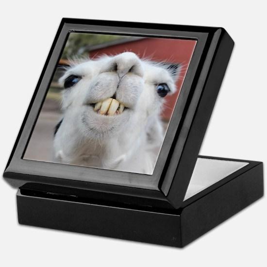 Funny Alpaca Llama Keepsake Box