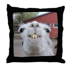 Funny Alpaca Llama Throw Pillow
