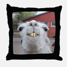 Funny Alpaca Llama Throw Pillow
