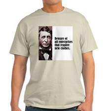 "Thoreau ""Beware"" T-Shirt"