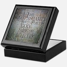 ROMANS 1:16 Not Ashamed Keepsake Box