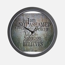 ROMANS 1:16 Not Ashamed Wall Clock